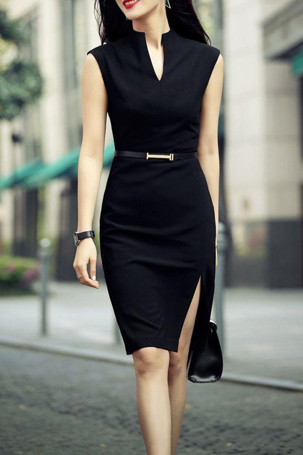 ffa5eff7d99dd72b064a9b5eb3c7657c-knee-length-dresses-casual-black-dress-casual